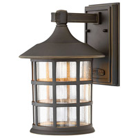 Freeport LED 12 inch Oil Rubbed Bronze Outdoor Wall Lantern in Clear Seedy