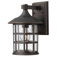 Freeport 1 Light 12 inch Oil Rubbed Bronze Outdoor Wall Lantern in Clear Seedy, Incandescent