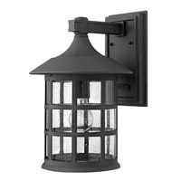 Freeport 1 Light 15 inch Black Outdoor Wall in Clear Seedy, GU24, Clear Seedy Glass