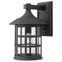 Freeport 1 Light 15 inch Black Outdoor Wall Mount in Incandescent, Clear Seedy, Clear Seedy Glass