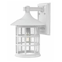 Hinkley 1805CW-GU24 Freeport 1 Light 15 inch Classic White Outdoor Wall Mount in GU24, Clear Seedy