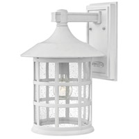 Freeport 1 Light 15 inch Classic White Outdoor Wall Mount in Incandescent, Clear Seedy