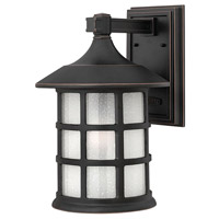 Freeport LED 15 inch Olde Penny Outdoor Wall Lantern in Etched Seedy