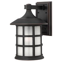 Freeport 1 Light 15 inch Olde Penny Outdoor Wall Lantern in Etched Seedy, Incandescent