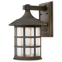 Freeport LED 15 inch Oil Rubbed Bronze Outdoor Wall Lantern in Clear Seedy