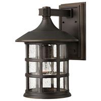 Freeport 1 Light 15 inch Oil Rubbed Bronze Outdoor Wall Lantern in Clear Seedy, Incandescent