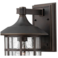 Hinkley 1805OZ Freeport 1 Light 15 inch Oil Rubbed Bronze Outdoor Wall Mount in Clear Seedy, Incandescent alternative photo thumbnail