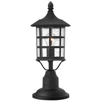 Hinkley 1807BK Freeport 1 Light 18 inch Black Outdoor Post Mount, Clear Seedy Glass alternative photo thumbnail