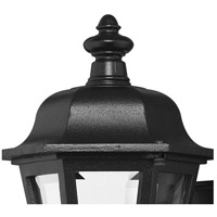 Hinkley 1819BK Manor House 1 Light 13 inch Black Outdoor Mini Wall Mount, Clear Beveled Glass alternative photo thumbnail