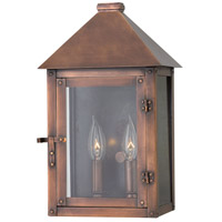 Hinkley Lighting Thatcher 2 Light Outdoor Wall in Antique Copper with Clear Glass 18200AP