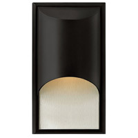 Hinkley 1830SK-LED Cascade LED 15 inch Satin Black Outdoor Wall Lantern in Clear Etched Organic Rain