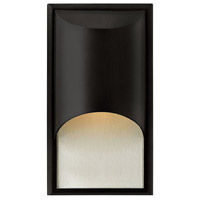 Hinkley 1830SK Cascade 1 Light 15 inch Satin Black Outdoor Wall Mount in Clear Etched Organic Rain, Incandescent