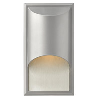 Hinkley 1830TT-GU24 Cascade 1 Light 15 inch Titanium Outdoor Wall in Clear Etched Organic Rain, GU24, Alabaster Glass