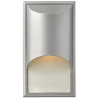 Hinkley 1830TT-LED Cascade LED 15 inch Titanium Outdoor Wall Lantern in Clear Etched Organic Rain