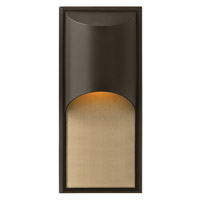 Hinkley 1834BZ-GU24 Cascade 1 Light 18 inch Bronze Outdoor Wall in GU24, Alabaster Glass