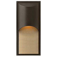 Hinkley 1834BZ Cascade 1 Light 18 inch Bronze Outdoor Wall Mount in Incandescent photo thumbnail