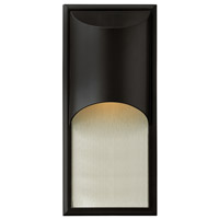 Hinkley 1834SK-GU24 Cascade 1 Light 18 inch Satin Black Outdoor Wall in GU24, Alabaster Glass