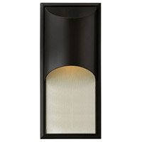 Hinkley Lighting Cascade 1 Light Outdoor Wall Lantern in Satin Black 1834SK-LED
