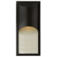 Hinkley Lighting Cascade 1 Light Outdoor Wall Lantern in Satin Black 1834SK
