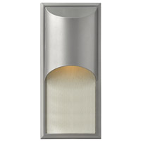 Hinkley 1834TT-GU24 Cascade 1 Light 18 inch Titanium Outdoor Wall in GU24, Alabaster Glass