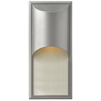 Hinkley 1834TT Cascade 1 Light 18 inch Titanium Outdoor Wall Lantern in Incandescent