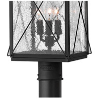 Hinkley 1841BK York 3 Light 28 inch Black Outdoor Post Mount, Clear Seedy Glass, Post Sold Separately alternative photo thumbnail