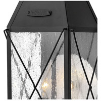 Hinkley 1844BK York 2 Light 21 inch Black Outdoor Wall Mount, Clear Seedy Glass alternative photo thumbnail