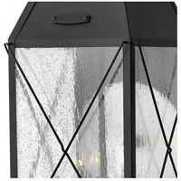 Hinkley 1845BK York 3 Light 25 inch Black Outdoor Wall Mount, Clear Seedy Glass alternative photo thumbnail