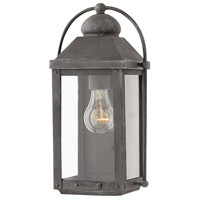 Hinkley 1850DZ Anchorage 1 Light 13 inch Aged Zinc Outdoor Wall Mount, Heritage
