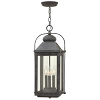 Hinkley 1852DZ-LL Anchorage LED 11 inch Aged Zinc Outdoor Hanging Lantern