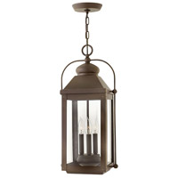 Hinkley 1852LZ Anchorage 3 Light 11 inch Light Oiled Bronze Outdoor Hanging Lantern in Candelabra