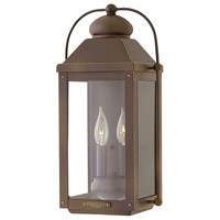 Hinkley 1854LZ Anchorage 2 Light 18 inch Light Oiled Bronze Outdoor Wall Mount in Candelabra