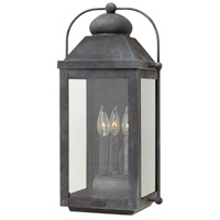 Hinkley 1855DZ-LL Anchorage LED 21 inch Aged Zinc Outdoor Wall Mount, Heritage