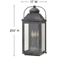 Hinkley 1855DZ Anchorage 3 Light 21 inch Aged Zinc Outdoor Wall Mount in Incandescent, Heritage alternative photo thumbnail