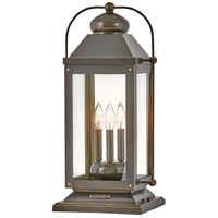 Hinkley 1857LZ Anchorage 3 Light 24 inch Light Oiled Bronze Outdoor Pier Mount, Heritage