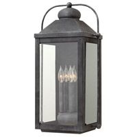 Hinkley 1858DZ-LL Anchorage LED 25 inch Aged Zinc Outdoor Wall Mount, Heritage