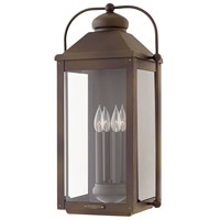 Hinkley 1858LZ Anchorage 4 Light 25 inch Light Oiled Bronze Outdoor Wall Mount in Candelabra
