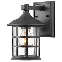 Hinkley 1860TK Freeport 1 Light 9 inch Textured Black Outdoor Wall Mount, Coastal Elements