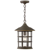Hinkley 1862OZ Freeport 1 Light 10 inch Oil Rubbed Bronze Outdoor Hanging Light Coastal Elements