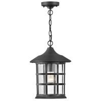Hinkley 1862TK Freeport 1 Light 10 inch Textured Black Outdoor Hanging Light Coastal Elements
