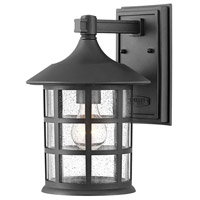 Hinkley 1864TK Freeport 1 Light 12 inch Textured Black Outdoor Wall Mount, Coastal Elements