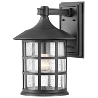 Hinkley 1865TK Freeport 1 Light 15 inch Textured Black Outdoor Wall Mount, Coastal Elements