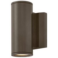 Hinkley 1876BZ Kore LED 8 inch Bronze Outdoor Wall Mount