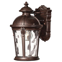 Hinkley 1890RK Windsor 1 Light 13 inch River Rock Outdoor Wall Lantern in Clear Optic Water, Incandescent