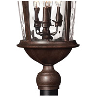 Hinkley 1891RK Windsor 4 Light 30 inch River Rock Outdoor Post Mount in Clear Optic Water, Incandescent, Post Sold Separately alternative photo thumbnail