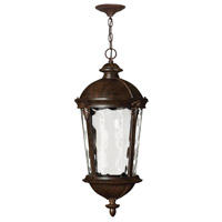 Hinkley 1892RK-LED Windsor LED 13 inch River Rock Outdoor Hanging Light in Clear Water, Clear Water Glass