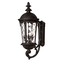 Hinkley Lighting Windsor 1 Light Outdoor Wall Lantern in Black with Clear Water Glass 1894BK-LED