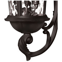 Hinkley 1894BK Windsor 3 Light 26 inch Black Outdoor Wall Mount in Incandescent, Clear Water Glass alternative photo thumbnail