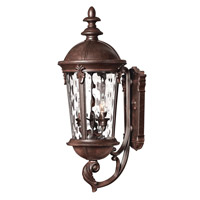 Hinkley Lighting Windsor 1 Light Outdoor Wall Lantern in River Rock with Clear Water Glass 1894RK-LED