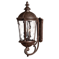 Hinkley Lighting Windsor 1 Light Outdoor Wall Lantern in River Rock with Clear Water Glass 1895RK-LED